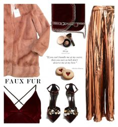 """""""faux but lux"""" by nataskaz ❤ liked on Polyvore featuring Urbancode, Christian Siriano, Lanvin, STELLA McCARTNEY and Nude by Nature"""