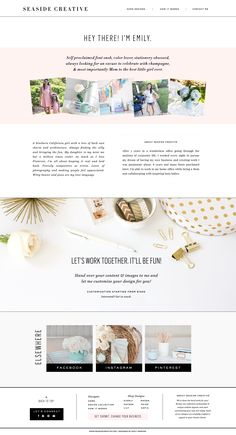 About Page Design by Seaside Creative.