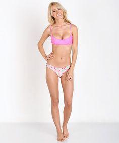 Lolli Swim Flip Flops Scrunch Butt Bottom Hot Pink/Melons V017 - Free Shipping at Largo Drive
