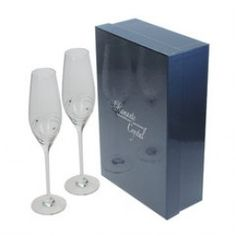 Personalised Swarovski Champagne Flutes which can be engraved with a personalised message. Engraved Champagne Flutes, Champagne Glasses, Champagne Gifts, Wine Glass, Special Occasion, Birthday Gifts, Swarovski, Blogging, Products