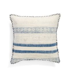 Surya Home 'Lola' Pillow (£44) ❤ liked on Polyvore featuring home, home decor, throw pillows, stripe throw pillows, shabby chic home decor, shabby chic throw pillows and striped throw pillows