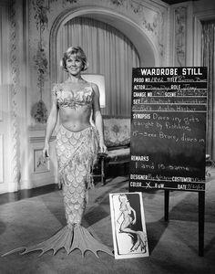 Wardrobe test of Doris Day for The Glass Bottom Boat (1966).