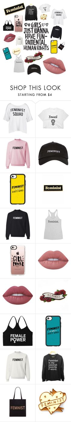 """""""Women Empowerment Clothing"""" by bella1174 ❤ liked on Polyvore featuring Boohoo, Topshop, Casetify, Lime Crime, Forever 21 and Kate Rowland"""