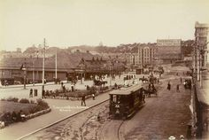 Circular Quay in Sydney in the late 1800s.