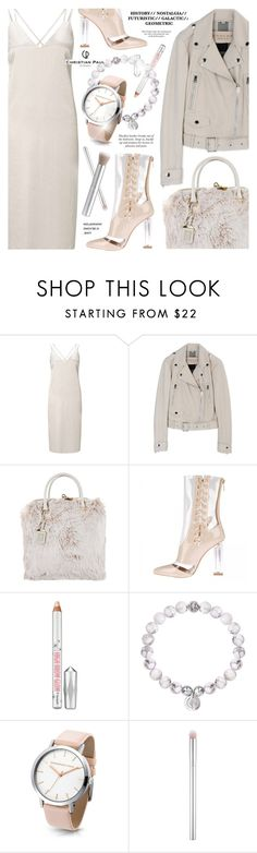 """""""Untitled #1757"""" by noviii ❤ liked on Polyvore featuring Miss Selfridge, Prada, Benefit, rms beauty and christianpaul"""