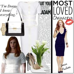 I'm Donna by castelli on Polyvore featuring Jason Wu, Burberry, Jimmy Choo, Suits, SarahRafferty and tvstylestar