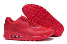 buy online d6662 85b03 Nike Air Max 90 Hyperfuse All Fire Red Mens Running Shoes