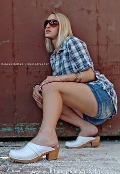 Mid heeled #Clogs #SY