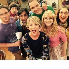 Johnny Galecki, Simon Helberg, Kunal Nayyar, Jim Parsons, Kaley Cuoco-Sweeting, Melissa Rauch and Mayim Bialik