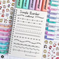Doodle ideas to try in your bullet journal. Have fun decorating your bujo (bullet journal) with these creative doodle ideas. Bullet Journal Instagram, Bullet Journal Headers, Bullet Journal Banner, Bullet Journal 2019, Bullet Journal Notebook, Bullet Journal Ideas Pages, Bullet Journal Layout, Bullet Journal Inspiration, Bullet Journal Ideas Handwriting