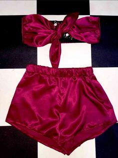 Silky sexy soft and classic #OMIGHTY two piece set ~*~*~101% babygirl necessity ~*~*~ Satin blend Elastic waist band (This set is sold together)