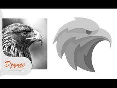 Illustrator Tutorials | Picture to Vector Eagle - YouTube