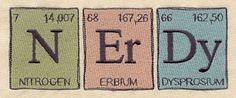 The Elements of Nerdy | Urban Threads: Unique and Awesome Embroidery Designs