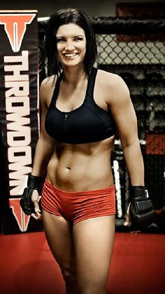 Former female MMA fighter Gina Carano Made a pretty good movie too. Haywire