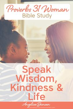 As a woman of God, your words and speech matters! Discover how to be more purposeful with speaking wisdom, life, and kindness, in our Proverbs 31 Bible Study! Explore practical ways to be a virtuous woman in your home today! || Angelica Duncan