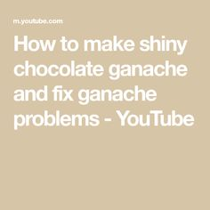 How to make shiny chocolate ganache and fix ganache problems - YouTube Chocolate Cream Cake, Chocolate Peppermint Cookies, Chocolate Banana Muffins, Dairy Free Chocolate, Chocolate Ganache, Gluten Free Gingerbread Cookies, Quick Vegetarian Meals, Frosting Recipes, Icing Techniques