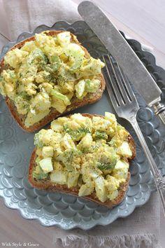 Open-face Egg Salad Sandwich via @Lisa Thiele