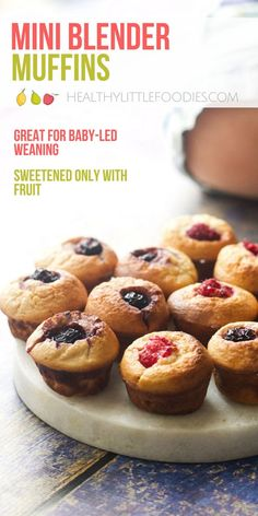 Muffins perfect for babies and toddlers. No refined sugar, sweetened only with fruit. Super easy to prepare and make. Great for lunchboxes or toddler snacks. #babyledweaning #muffins #babyfood #toddlerfood #healthymuffins  via @hlittlefoodies