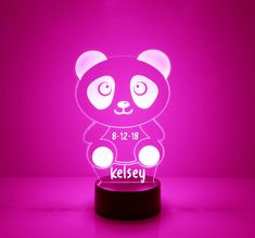 16 Color Options Engraved Table Lamp Carolina Panthers Light Up Night Light Personalized Free LED With Remote Featuring Licensed Decal