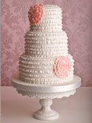 'Frill' wedding cake : Madagascar vanilla bean cake, vanilla  buttercream, Fortnum's violet jelly, handmade sugar ruffles... It looks beautiful!!!