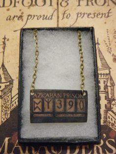 Sirius Black's Azkaban Prison Sign Necklace #harrypotter