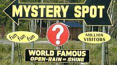 the Mystery Spot - Santa Cruz, CA