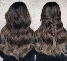 Cool Brunette to Dark Blonde Ombre