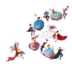 "Cristiana Radu illustration for ""Harap Alb - Romanian Fairytale"". Lets Dance, Childrens Books, Rooster, Fairy Tales, Kids Rugs, Naive, Illustration, Animals, Digital"