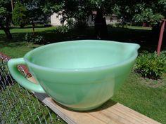 Vintage Anchor Hocking Fire King Oven ware Jadeite Jadite Batter Bowl