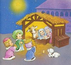 The Christmas Story: The Birth of Jesus Wallpapers :Magi found Mary and Jesus in the barn - The Nativity scene Wallpaper Wallpaper Christmas Nativity Scene, A Christmas Story, Christmas Fun, Christmas Clipart, Vintage Christmas Cards, Jesus Wallpaper, Jesus Stories, Mary And Jesus, Birth Of Jesus