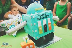 Robot themed birthday party.
