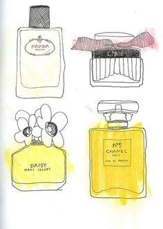 Perfume ~ artist Frida Stenmark   #art #journal #sketch #illustration