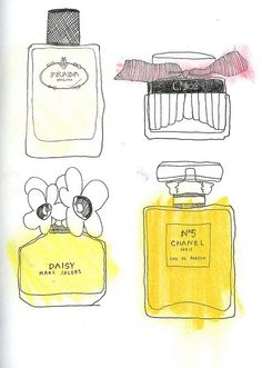 Perfume ~ artist Frida Stenmark   #art #journal #sketch #illustration