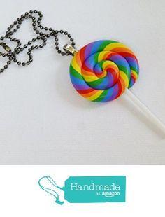 Huge Rainbow Lollipop Ball Chain Kandi Necklace / Rave Kandi / Kawaii / Decoden from DonkeyandtheUnicorn http://www.amazon.com/dp/B01BKK3QD6/ref=hnd_sw_r_pi_dp_jBlUwb0QXPMN7 #handmadeatamazon