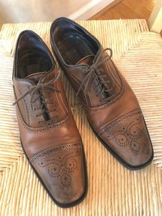 a3aee3ff674 To Boot New York Adam Derrick Cap Toe Brown Leather Dress Shoes Oxfords 8.5   fashion