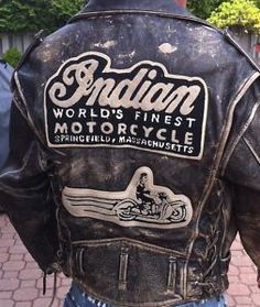 Vintage Indian Motorcycle Jacket