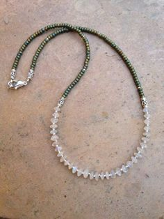 Moonstone and Sterling Silver Necklace by EastVillageJewelry, $40.00 Free shipping within the U.S.