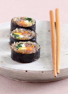 Japchae Gimmari (Korean glass noodles rolled in seaweed)
