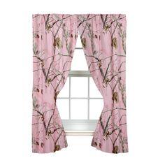 Realtree AP Pink Rod Pocket Drape, 2 Panels, 2 Tie-backs