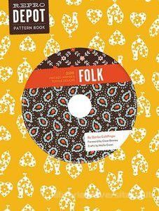 REPRO DEPOT PATTERN BOOK - FOLK + cd  Offers 225 vintage-inpired textile patterns. This package provides directions for 10 craft projects including placemats, wrapping paper, wall-hangings, and more. #pattern #book