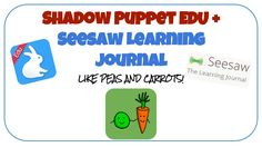 Shadow Puppet and SeeSaw! Two Apps That Go Great Together! First Grade, Second Grade, Seesaw App, Middle School Classroom, Classroom Behavior, Shadow Puppets, Blended Learning, 21st Century, Elementary Schools