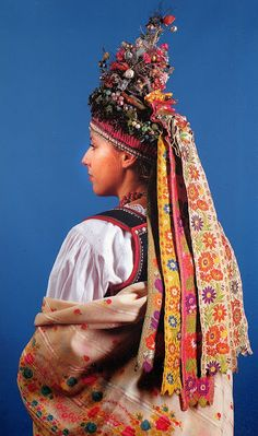 Europe | Portrait of a woman wearing traditional clothes, western Krakow, Poland