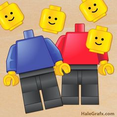 Free Printable Pin the Head on the LEGO Minifigure.