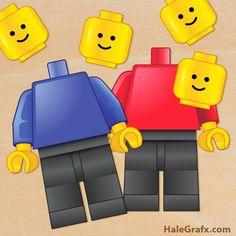 Free Printable Pin the Head on the LEGO Minifigure.