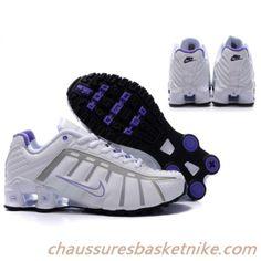 new concept fe55c 36704 Femme Nike Shox NZ NZ-2 0958 Violet Blanc Nike Shox Shoes, Nike Shox