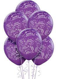 Purple Birthday Balloons...