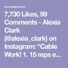Leg Circuit, Full Body Circuit, Workout Circuit, Cable Workout, Alexia Clark, Bosu Ball, Core Work, Killer Legs, Killer Workouts