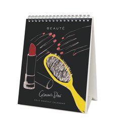 2015 Beauté Spiral-bound Desk Calendar