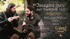 """""""Imagine how our foes will run in terror. Well, once he grows a little."""" - Richard. #Galavant After all, his name does invoke strength, valor, and bravery! #TadCooper"""