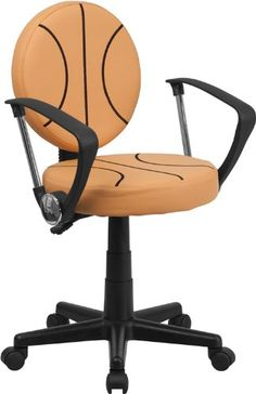 Bring your favorite sport to the desk with this Basketball Inspired Office Chair that is perfect for all young basketball fans The round seat and back resem